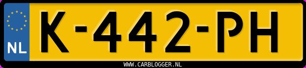 Laatste kenteken: K-442-PH
