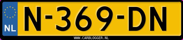 Laatste kenteken: N-369-DN